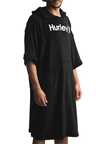 Hurley M One&Only Poncho Toallas, Hombre, Black